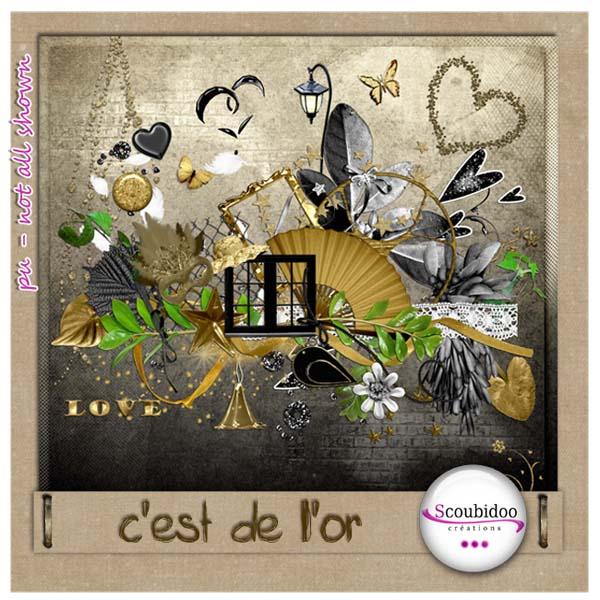 """kit """" C'est de l'or"""" Scoubi10"""