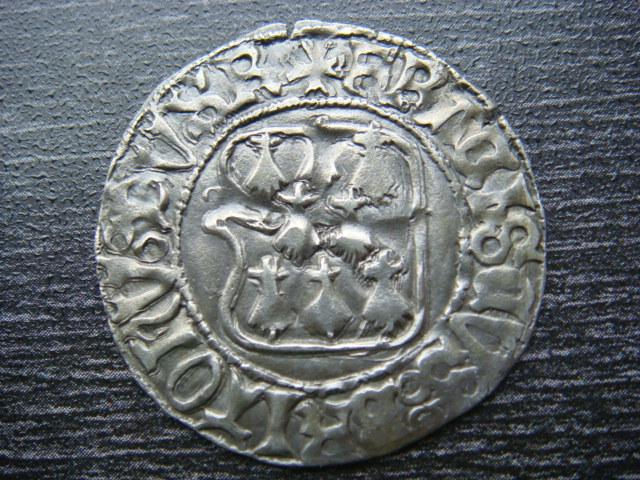 """Blanc d'argent """"à la targe"""", François II 1458-1488 Groses10"""