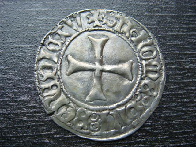 """Blanc d'argent """"à la targe"""", François II 1458-1488 Groses11"""