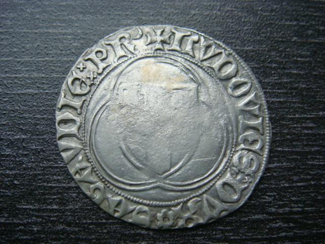 """""""PARPAIOLE"""" ou """"double Blanc"""" de Louis 1er (1451-1465). Groses14"""