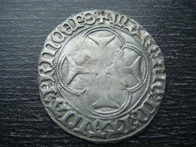 """""""PARPAIOLE"""" ou """"double Blanc"""" de Louis 1er (1451-1465). Groses15"""