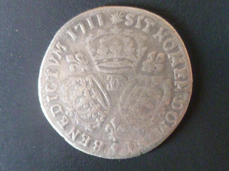 Louis XIIII quart d'écu aux 3 couronnes frappé à Besançon P1000512