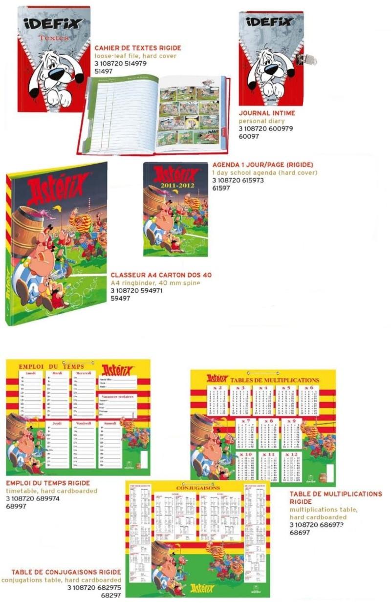 Les nouveautés Astérix pour la rentrée scolaire 2011-2012 (Oberthur) - Papeterie Objeto10