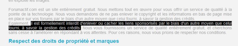 Help, Forum suspendu pour non respect des CGU 09-05-10