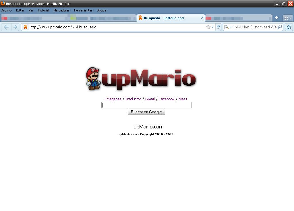 Coloca el Buscador de upMario, como tu pagina principal Seach10