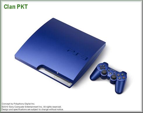 PS3 Slim Edición Limitada Gran Turismo 5 Titanium Blue. Gt5pac11