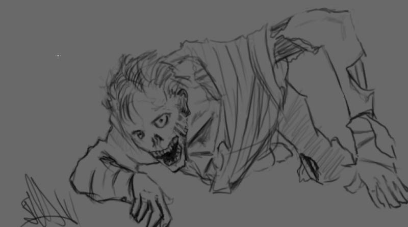 despertar de la cripta ( boceto inicial ) Desper10