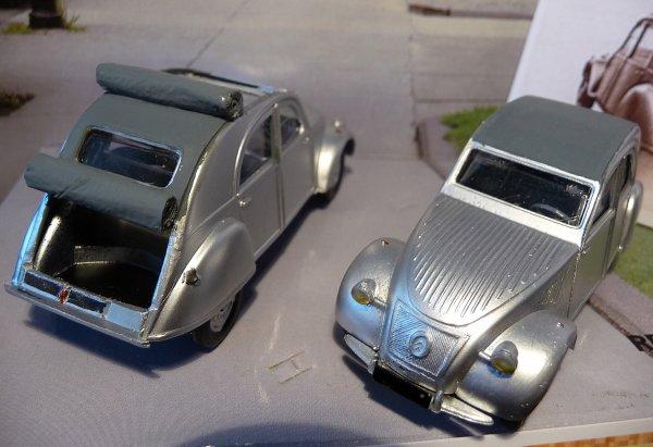 Maquette Heller au 1/43 éme-  2CV type A 1947 29908210