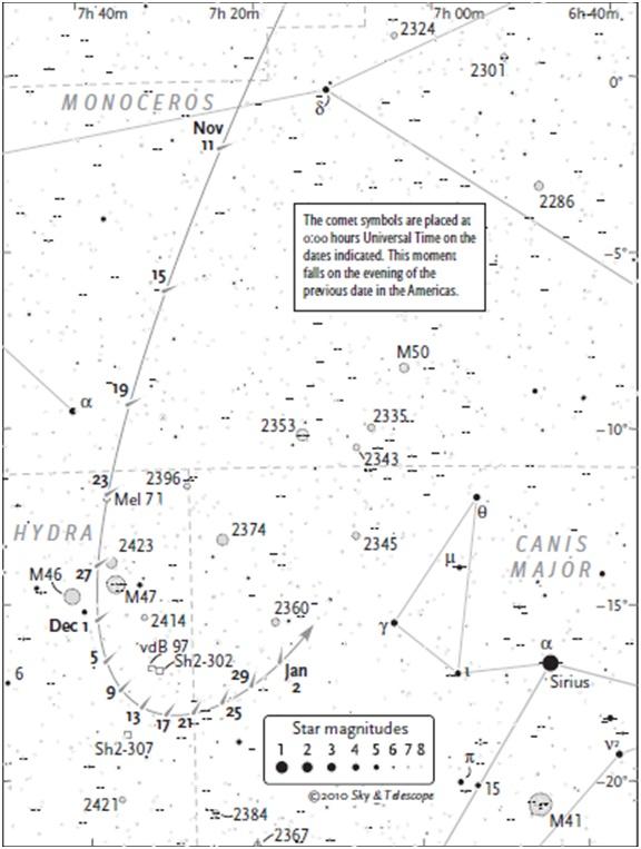 Cometa 103P/Hartley 2 Mapa_h12