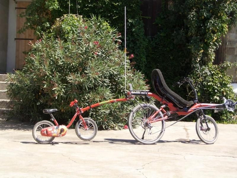 barre de traction trail gator et vélo couché azub Azub-t10