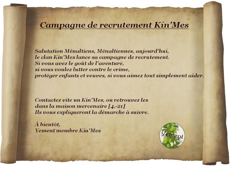 [Recrutement] Campagne de recrutement Kin'Mes  Campag11