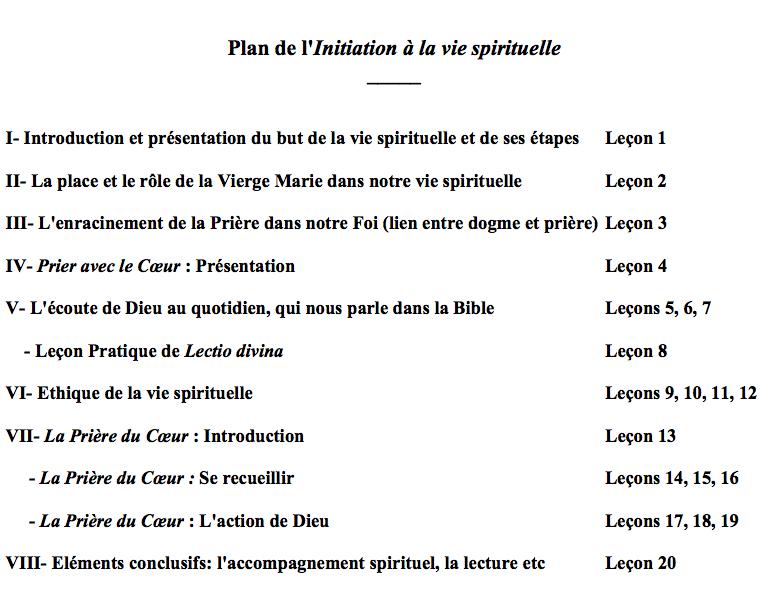 Cours d' Initiation à la vie spirituelle sur le net Captur16