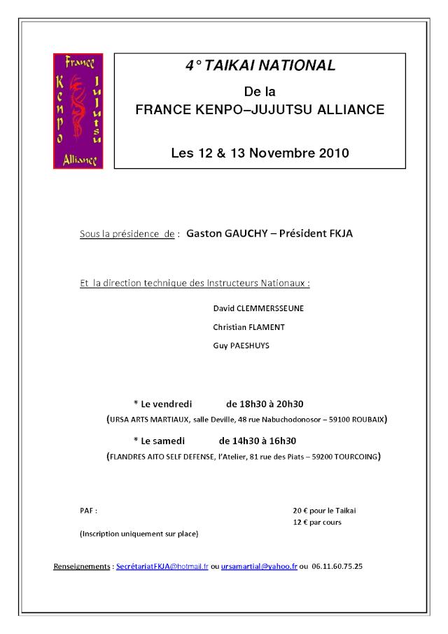 4° Taikai de la France Kenpo-Jujutsu Alliance Taikai18