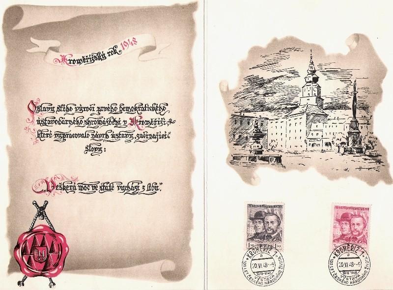 Sonderbelege aus der Tschechoslowakei Kremsi11
