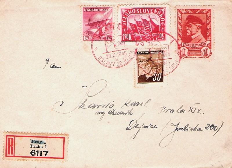 Sonderbelege aus der Tschechoslowakei Nation10