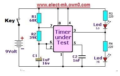 checker circuit  555 555tes11