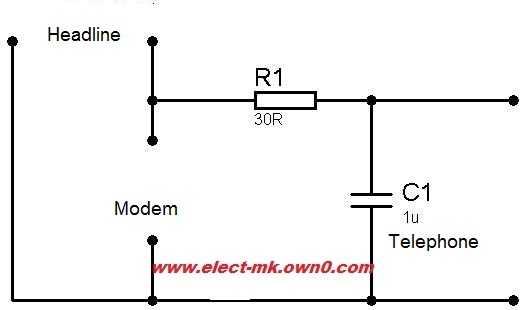 A Simple Circuit To Filter The Phone Line Interference