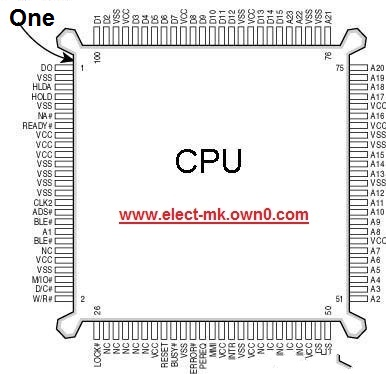Integrated circuit  PGA Cpu_pi10