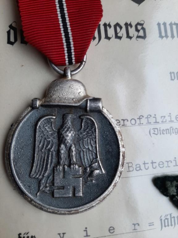 Wehrmacht Dienstauszeichnung IV./Ostmedaille/Schutzwall-Ehrenzeichen 20200225