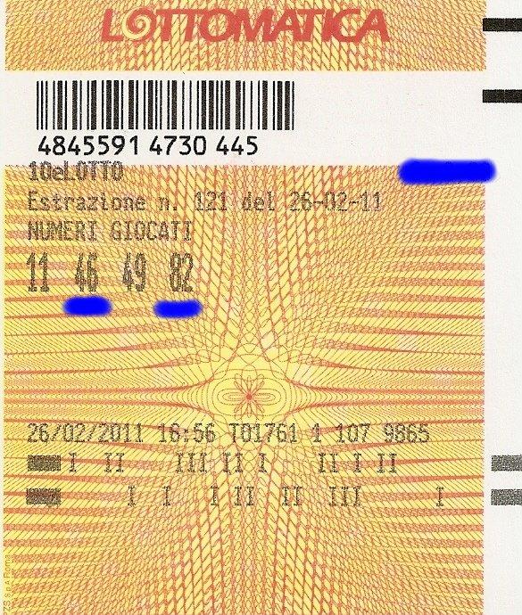 10 e Lotto - ogni 5 minuti - esiti del 10/03/11 Scansi10