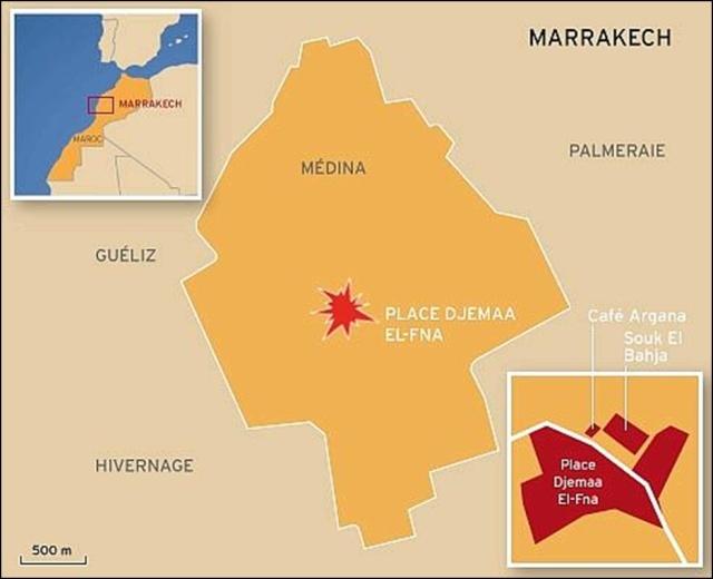 Attentat à Marrakech : 17 morts dont huit Français 6610