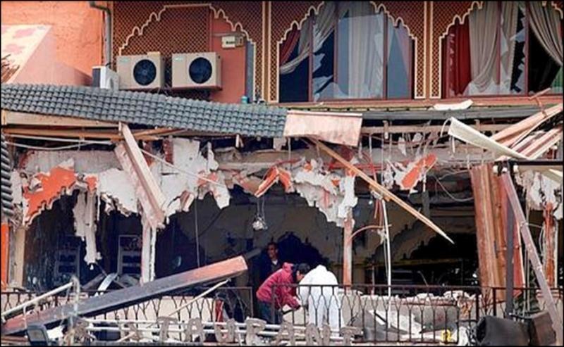 Attentat à Marrakech : 17 morts dont huit Français Explos10