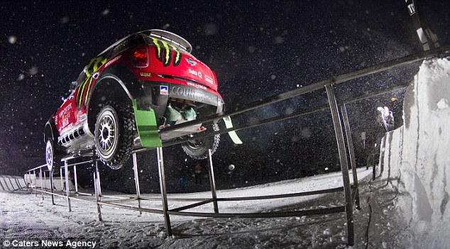 Now THAT'S a mini adventure: The car you can drive on the ski slopes, over 30-metre jumps and even along rails Articl10