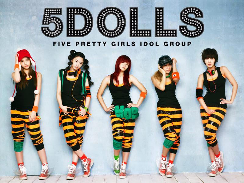 5Dolls – Charming Five Girls Mini Album Cover10