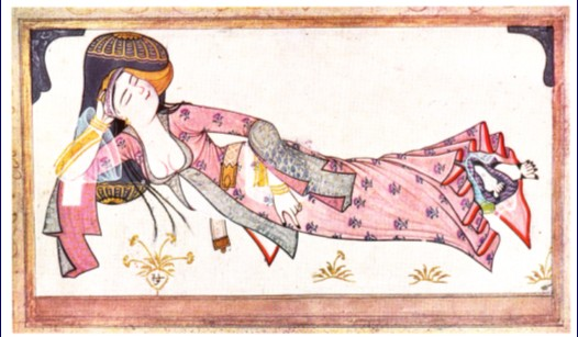 15th century Turkish Women's Clothing Levni_11