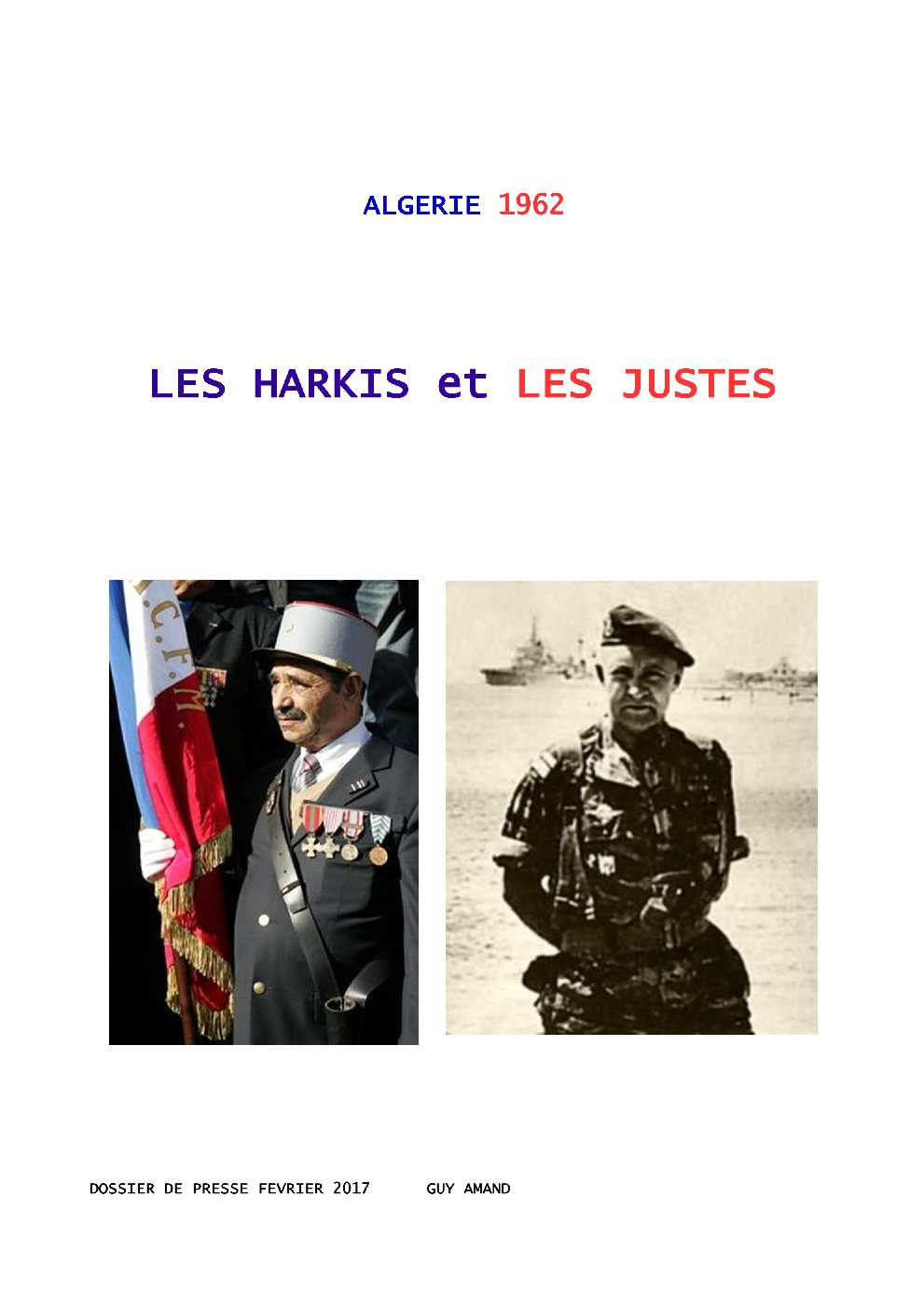 CONFERENCE HARKIS et JUSTES  SUJET Harkis58