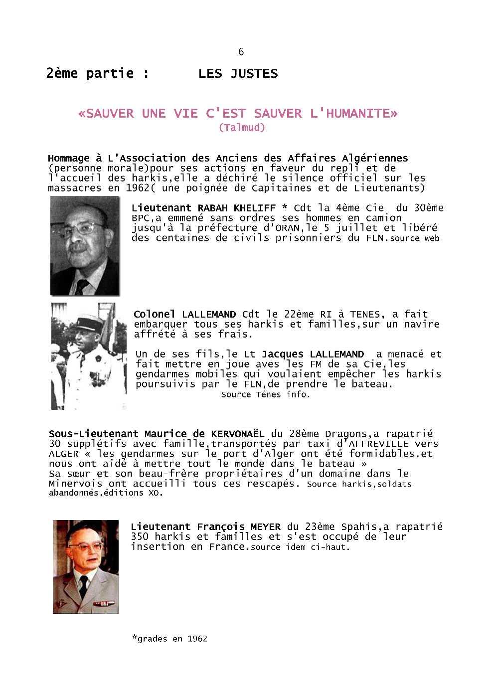 CONFERENCE HARKIS et JUSTES  SUJET Harkis64