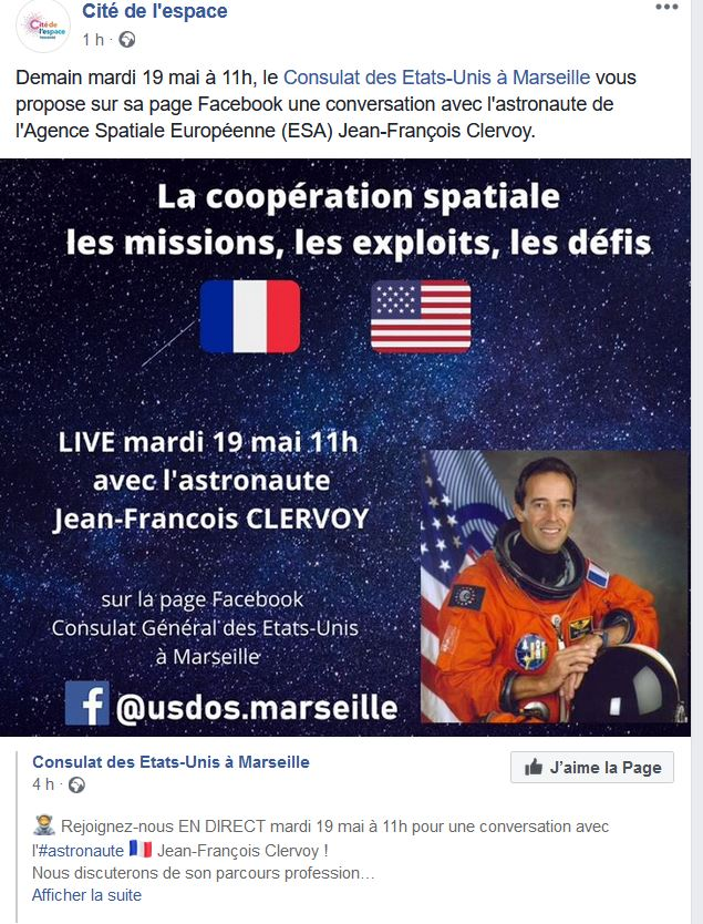 Discussion avec l'astronaute français JF Clervoy Astron11