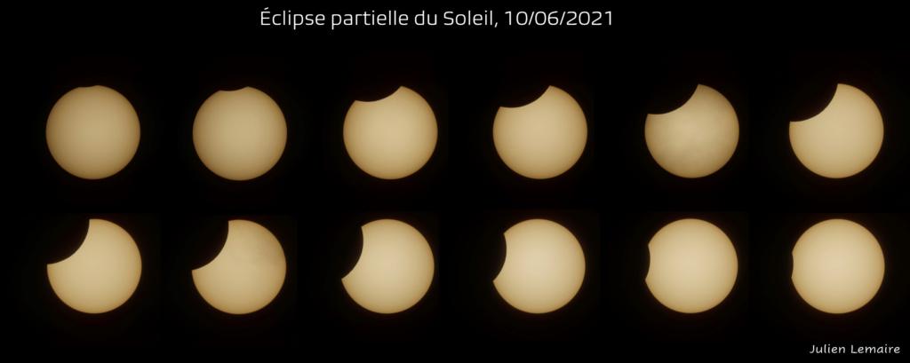 Eclipse partielle du Soleil de ce 10 juin 2021. Eclips10