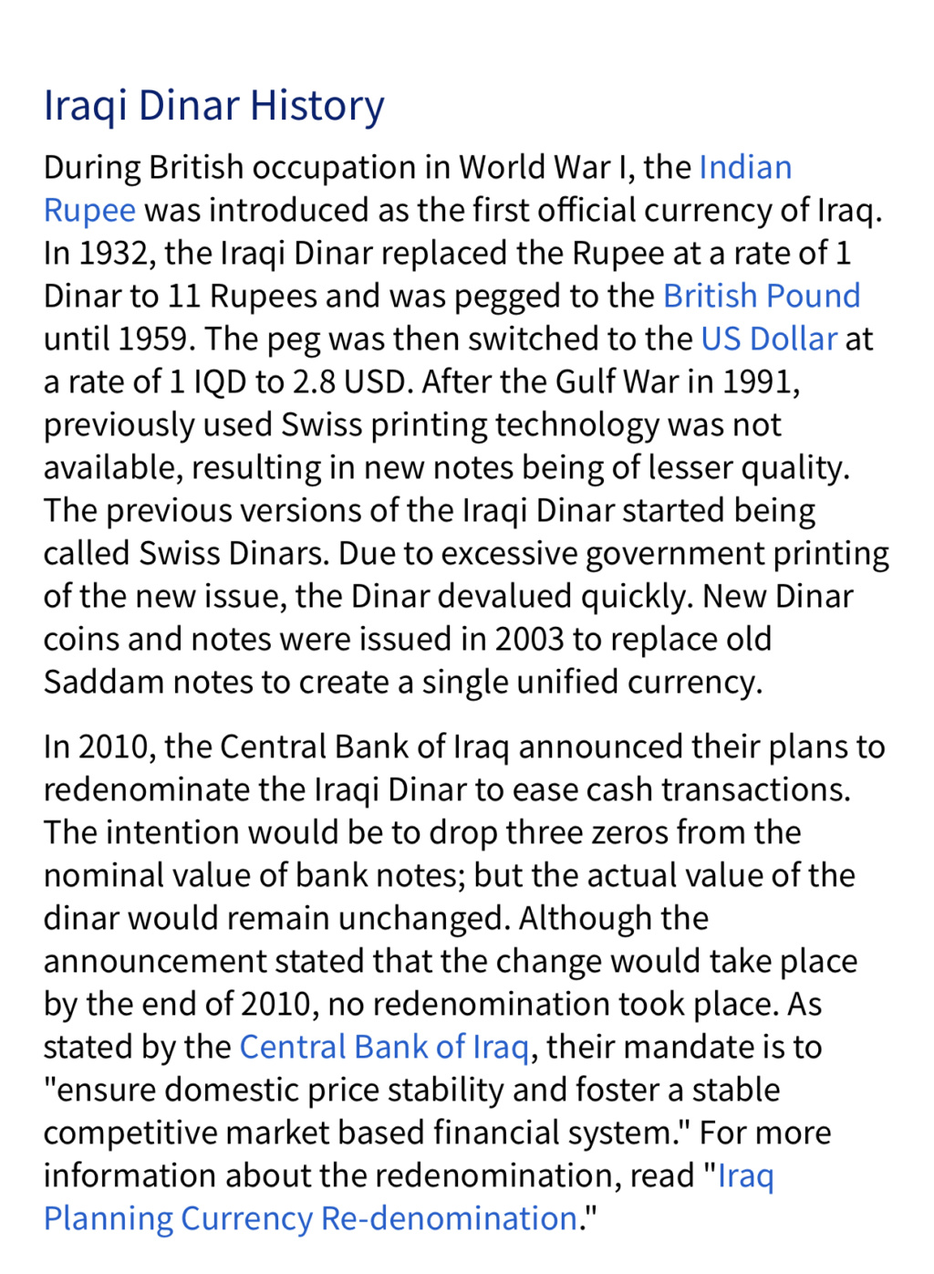 The models of the Iraqi currency in the royal and Republican covenants 02c47910
