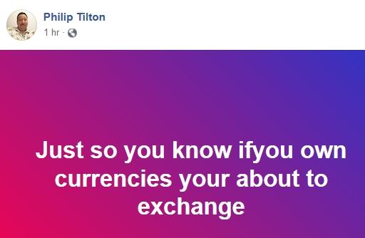 Urgent Philp Tilton RV Update!  8/21/18 2018-060