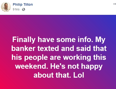 Philip Tilton is on HIGH ALERT!   8/31/18 2018-091
