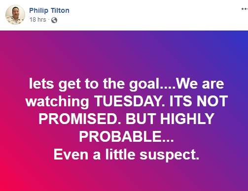 Philip Tilton Backpeddles on Tuesday RV!  9/2/18 2018-108