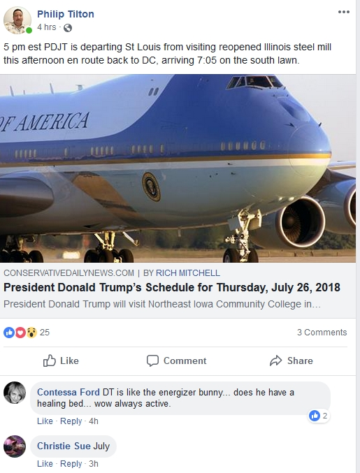 Philip Tilton - President Trump's Scheduele.....  Lol!  9/26/18 2018-198