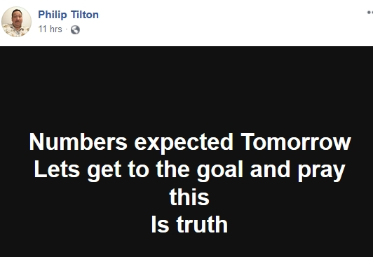 Philip Tilton - Numbers Expected Tomorrow  10/1/18 2018-212
