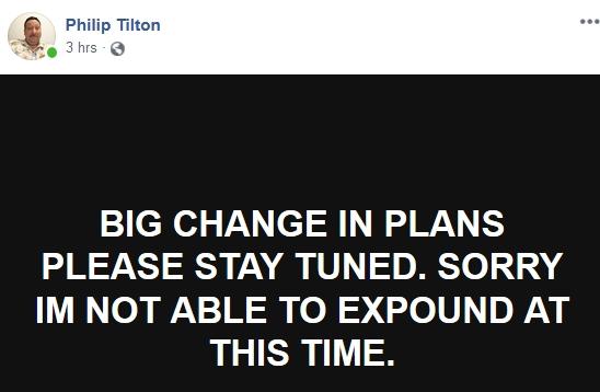 """Philip Tilton - """"Big Changes""""!  10/7/18 2018-232"""
