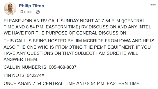 Philip Tilton - Sunday Night RV Call!  10/12/18 2018-253