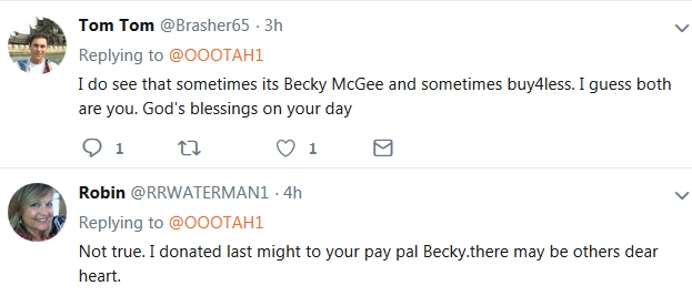Becky McGee/Oootah Doubles Down On Beg-A-Thon  10/16/18 2018-274