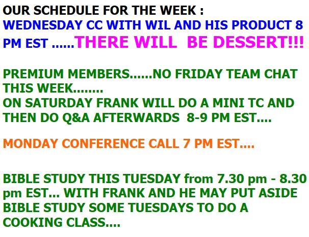 Frank26 - Weekly Schedule   10/15/18 2018-282
