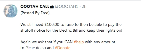 Becky McGee/Oootah Beg-A-Thon - Internet Panhandling Pays Well!  10/20/18 2018-302