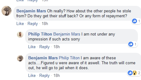 Tank - Philip Tilton Says Steffen Rowe/TANK is a THIEF!!!  11/10/18 2018-485
