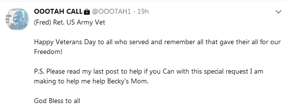 Becky McGee/Oootah Beg-A-Thon Continues!   11/11/18 2018-488