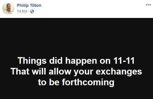 Philip Tilton is Becoming Skeptical!  11/12/18 2018-496
