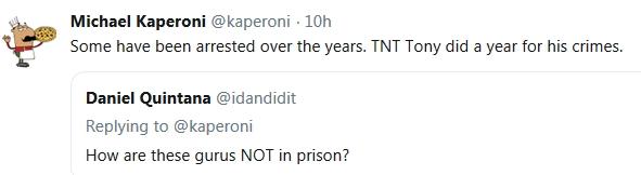 Kaperoni - Tony is a CON MAN!  12/5/18 2018-626