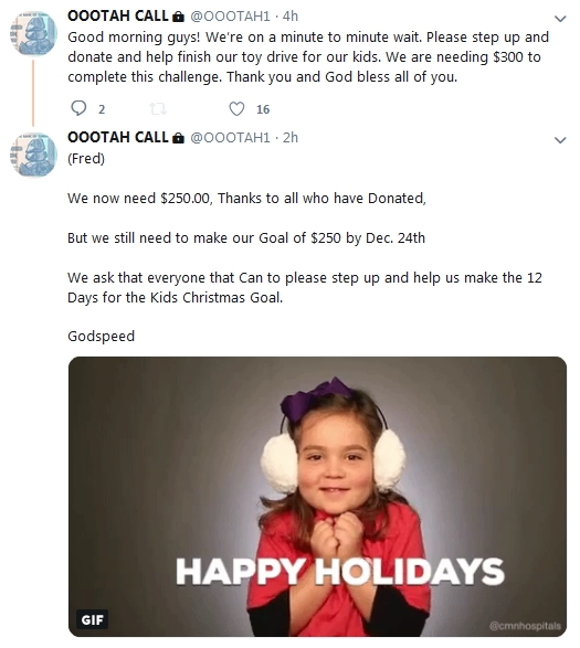 Becky McGee/Oootah Christmas Scam Update!  12/21/18 2018-741