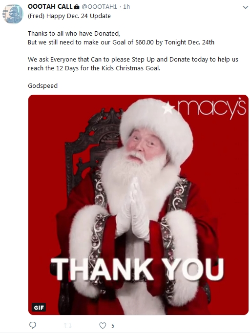 Why is Macy's Thanking Becky McGee/Oootah?  12/24/18 2018-770